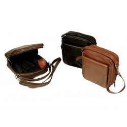 Leather trousse for 8 pipes, tobacco and accessories