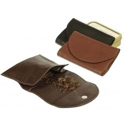 "Leather tobacco pouch ""Roll up"" with magnet"