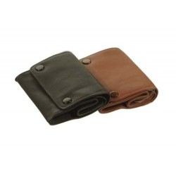 "Leather tobacco pouch ""box with 2 buttons"""
