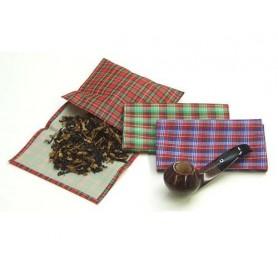 Bolsa en tejido escocés para tabaco