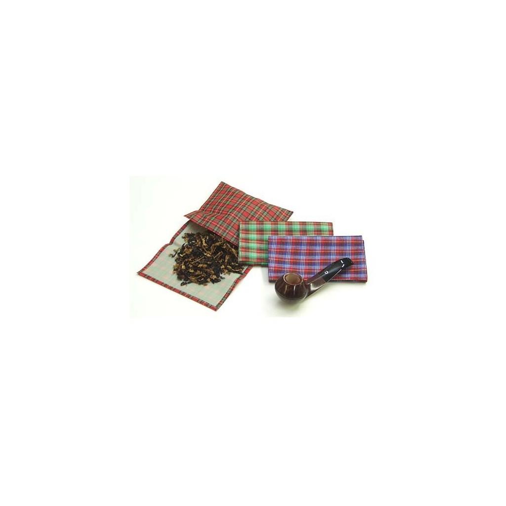 Sac pour tabac en étoffe écossaise