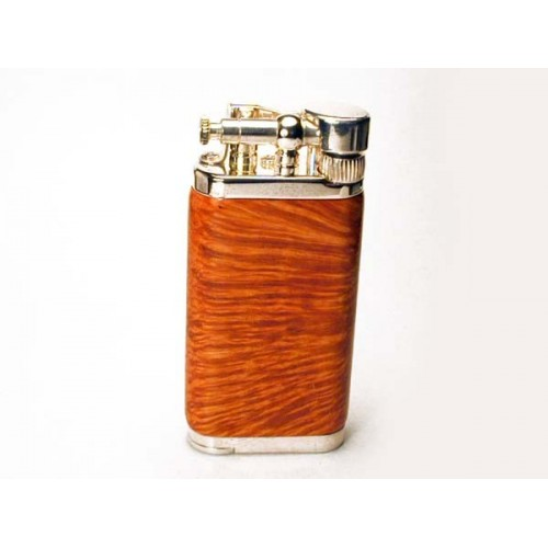Savinelli Old Boy pipe lighter - clear smooth briar