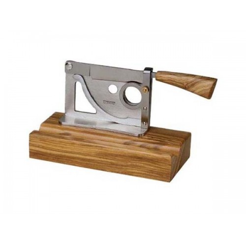 Saladini table cigar cutter olivewood base and handle