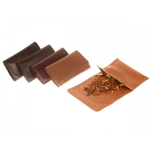 """Leather pouch """"Roll up"""" for tobacco"""