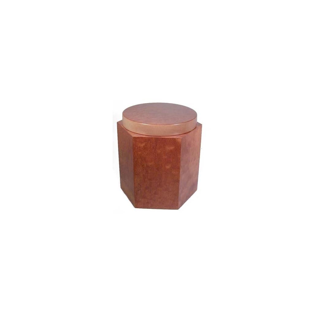 Jarros porta tabaco hexagonal en caoba