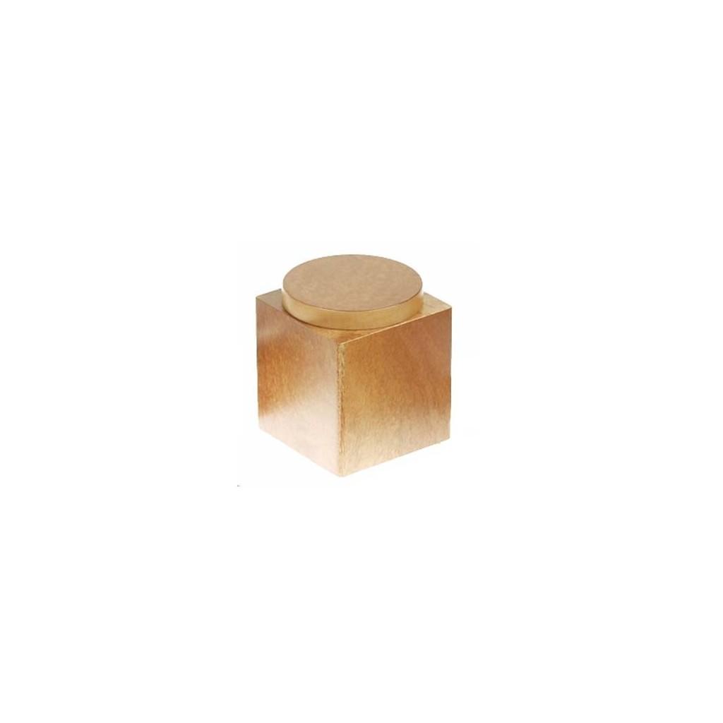 Tobacco jar square in mahogany