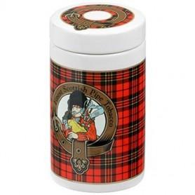 Jarros porta tabaco de cerámica - tartán escocés color rojo