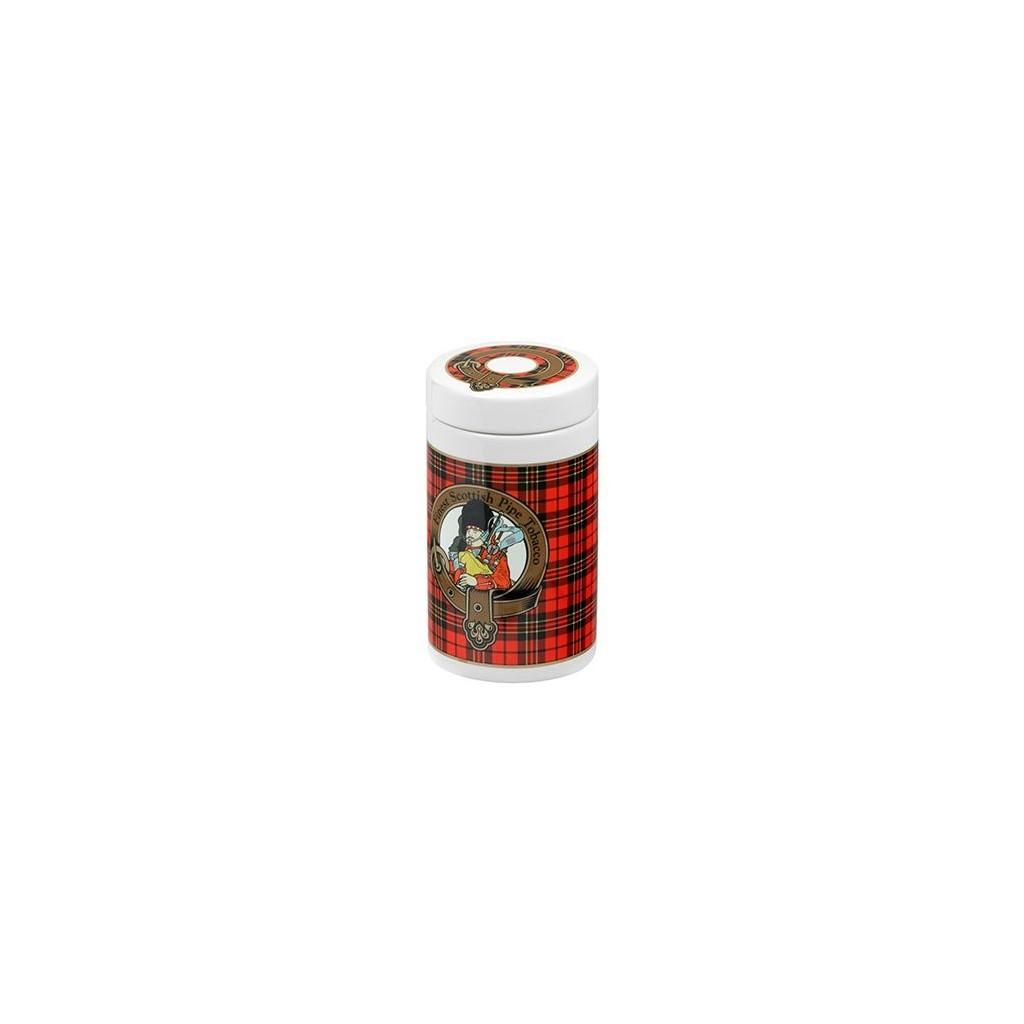 Vaso porta tabacco Tartan scozzese color rosso