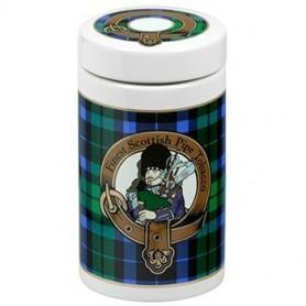 Pot en céramique - tartan écossaise couleur verte
