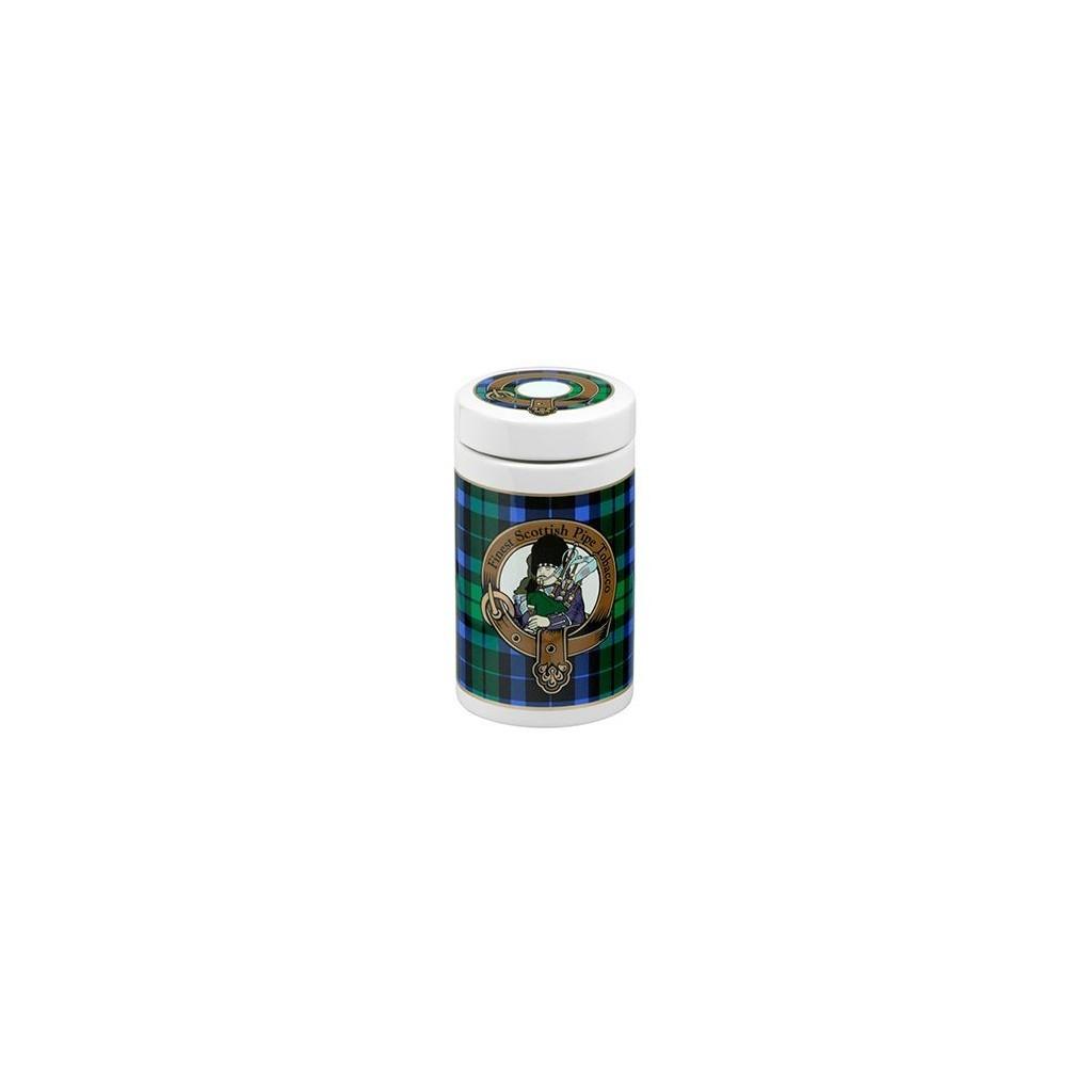 Jarros porta tabaco de cerámica - tartán escocés color verde