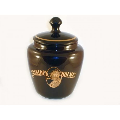 S.Holmes Ceramic Tobacco jar - dark brown