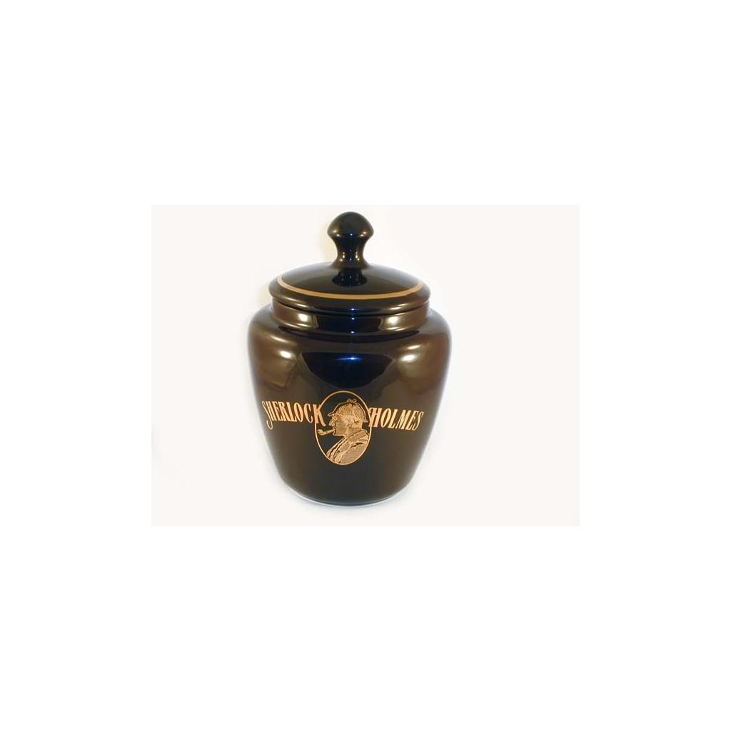 Vaso porta tabacco S.Holmes bombato piccolo in ceramica - Testa di moro