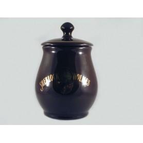 Vaso porta tabacco S.Holmes bombato grande in ceramica - Testa di moro