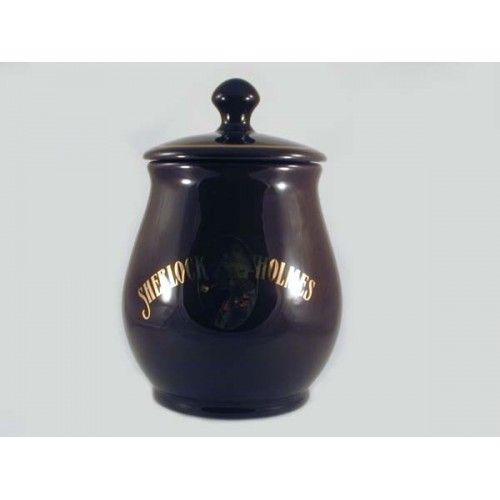 Big S.Holmes Ceramic Tobacco jar - dark brown