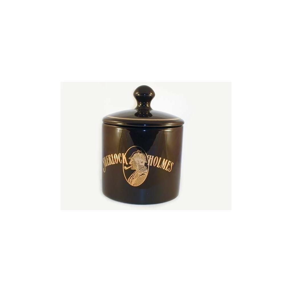 Jarros porta tabaco de cerámica S. Holmes cilíndrico - castaña oscura