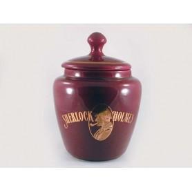 Jarros porta tabaco de cerámica S. Holmes - bordeaux