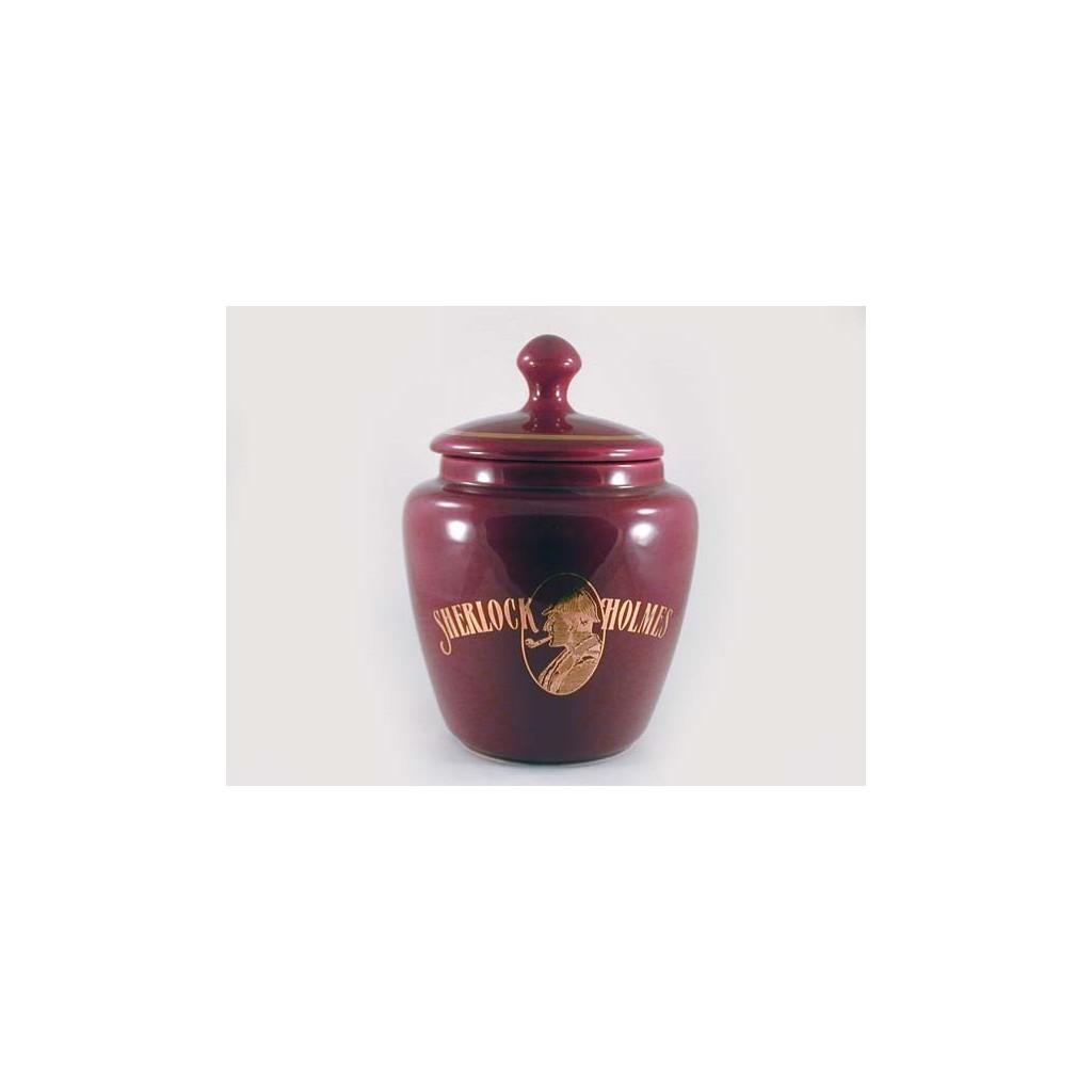 S.Holmes Ceramic Tobacco jar - bordeaux