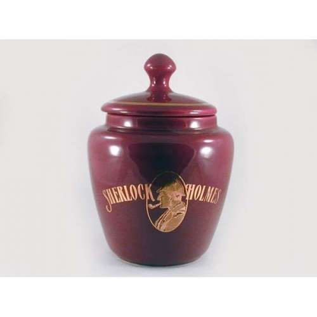 Vaso porta tabacco S.Holmes bombato piccolo in ceramica - Bordeaux