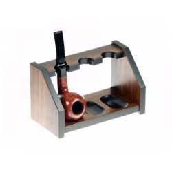 "Rosewood pipe stand ""Elegance"" for 3 pipes"