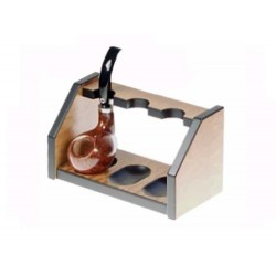 "Mahogany pipe stand ""Elegance"" for 3 pipes"