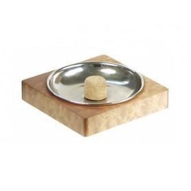 Square pipe ashtray - mahogany nickel plated