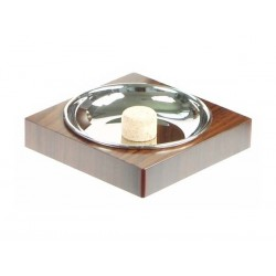 Square pipe ashtray - palisander nickel plated