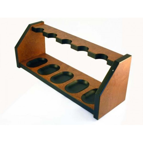 "Mahogany pipe stand ""Elegance"" for 5 pipes"