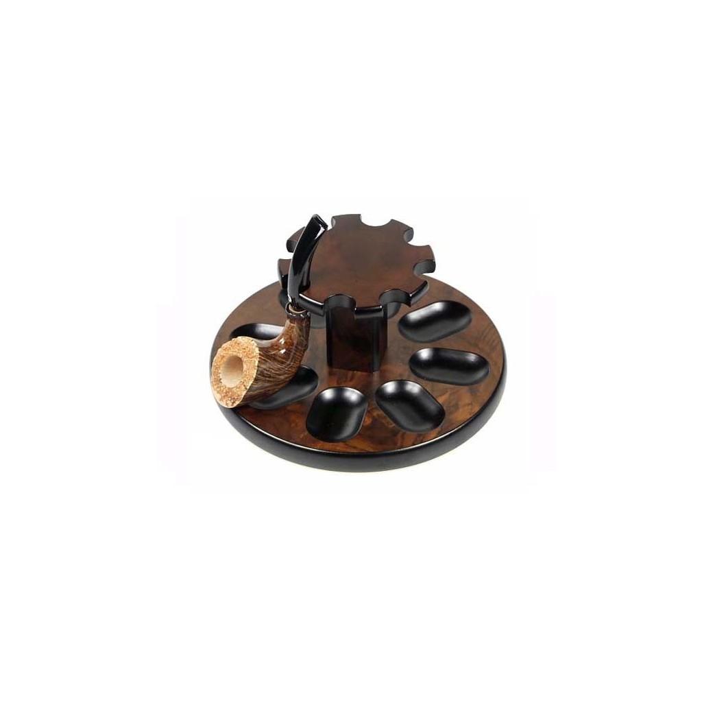 """Pose-pipes à 8 places - """"Rond"""" en bruyère de noix"""