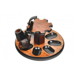"Mahogany pipe stand ""Round"" for 8 pipes"