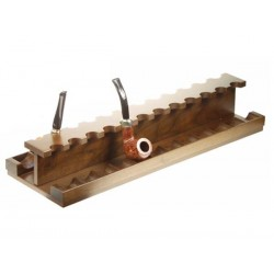Walnut pipe stand for 24 pipes