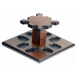 "Palisandre pipe stand ""Square"" for 8 pipes"