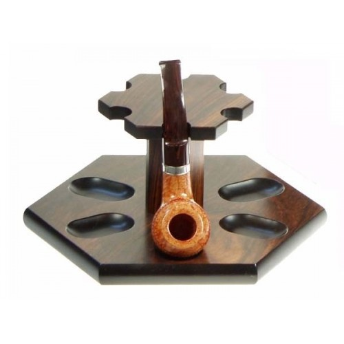"Palisandre pipe stand ""Hexagon"" for 6 pipes"