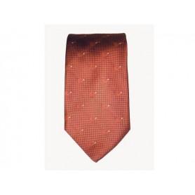 Cravatta Castello 100% Seta - Arancione con pipe tono su tono