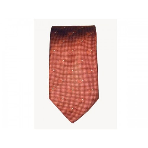 Castello Tie 100% Silk - Orange