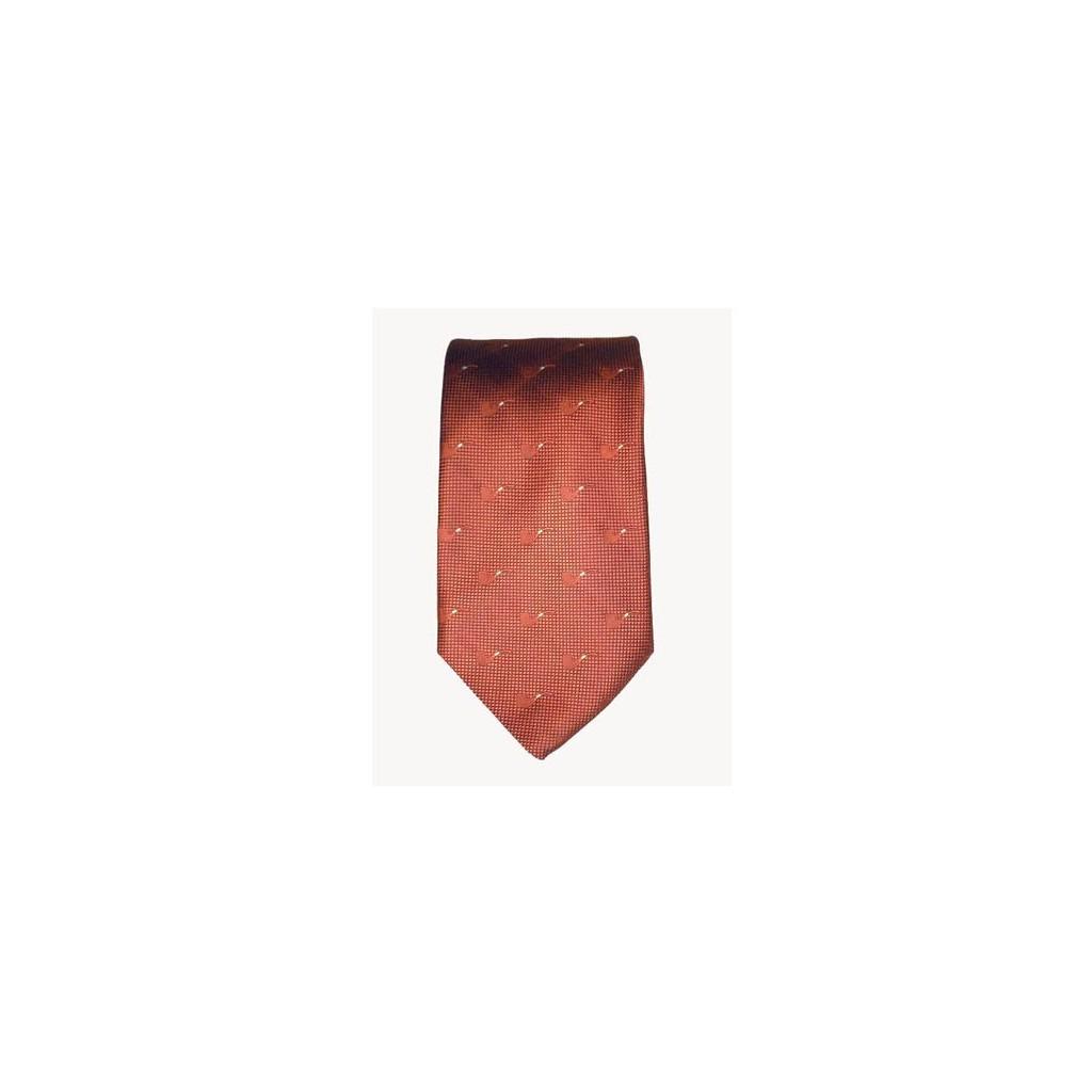 Cravate Castello en soie 100% - orange