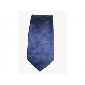 Corbata de seda 100% - Azul de Aviación
