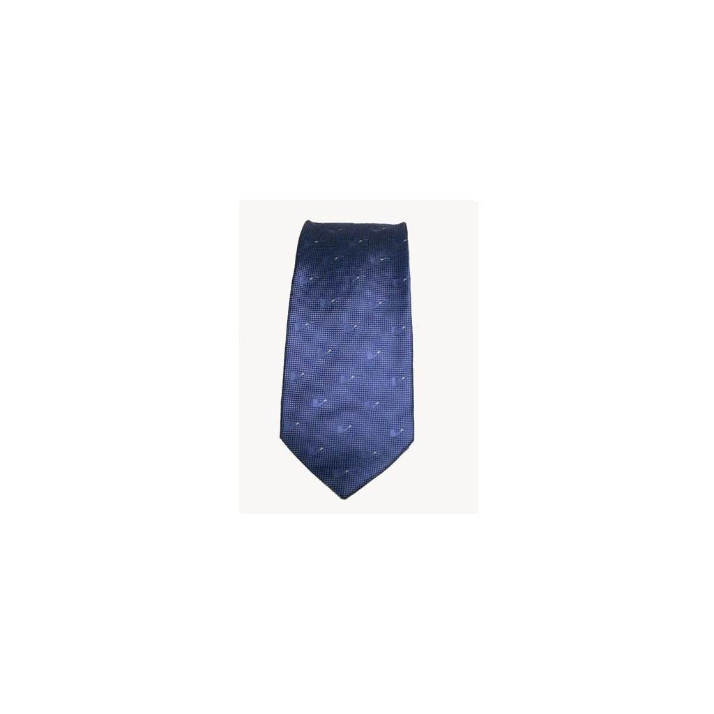 Cravatta Castello 100% Seta - Azzurro aviazione con pipe tono su tono