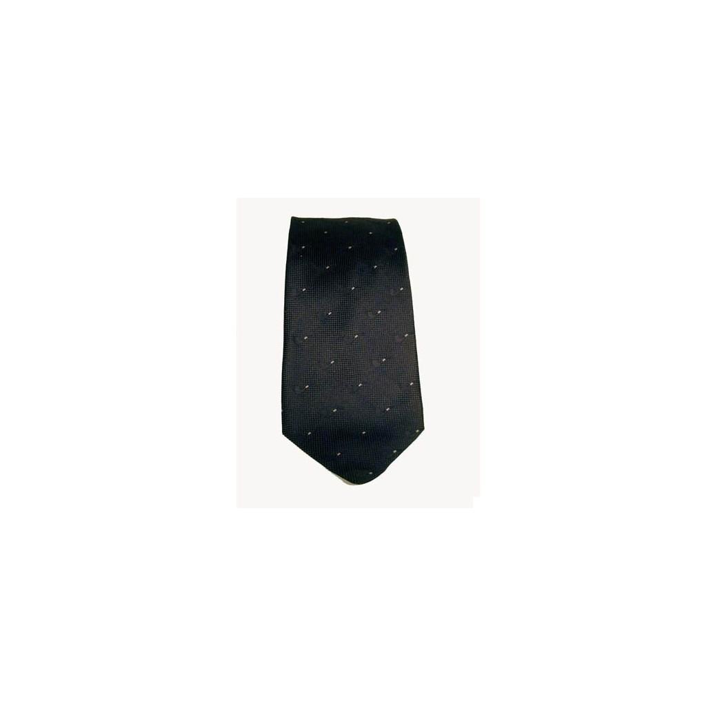 Cravatta Castello 100% Seta - Nero con pipe tono su tono