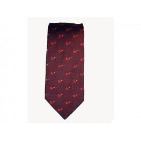 Cravatta Castello 100% Seta - Bordeaux con pipe tono su tono
