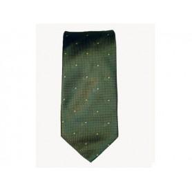 Cravatta Castello 100% Seta - Verdone con pipe tono su tono