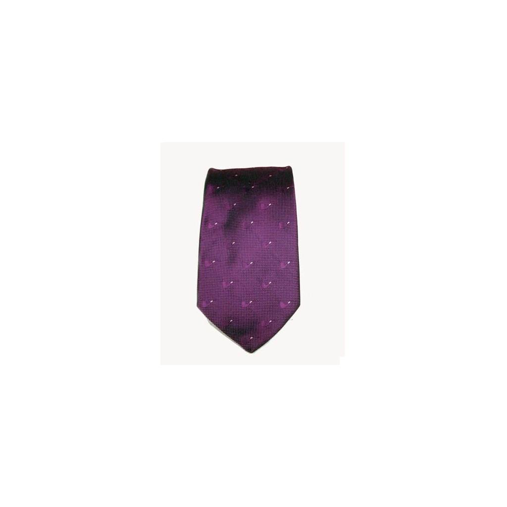Cravatta Castello 100% Seta - Viola con pipe tono su tono