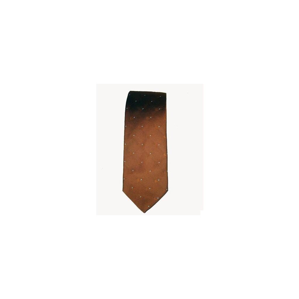 Castello Tie 100% Silk - Brown