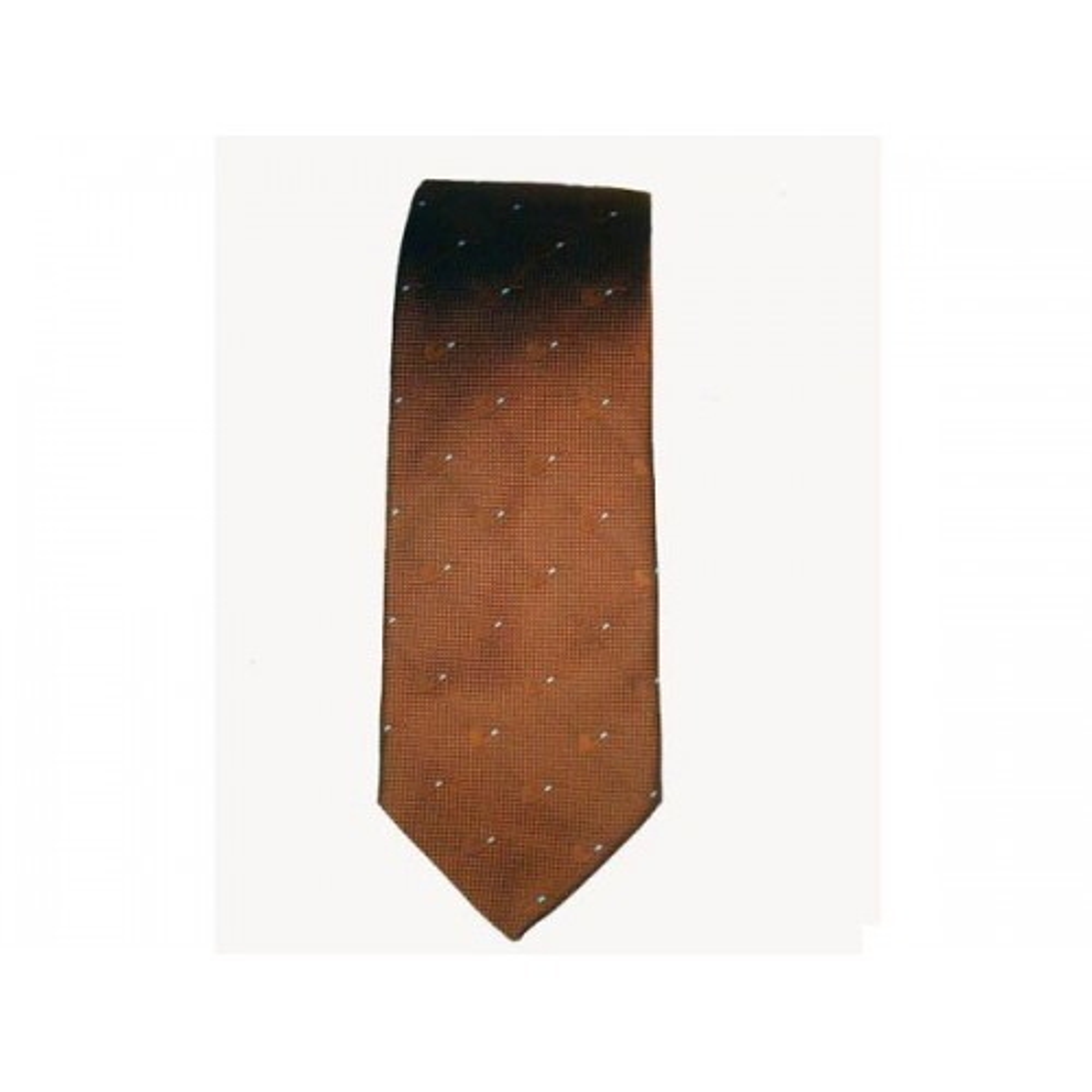 Cravatta Castello 100% Seta - Marrone con pipe tono su tono