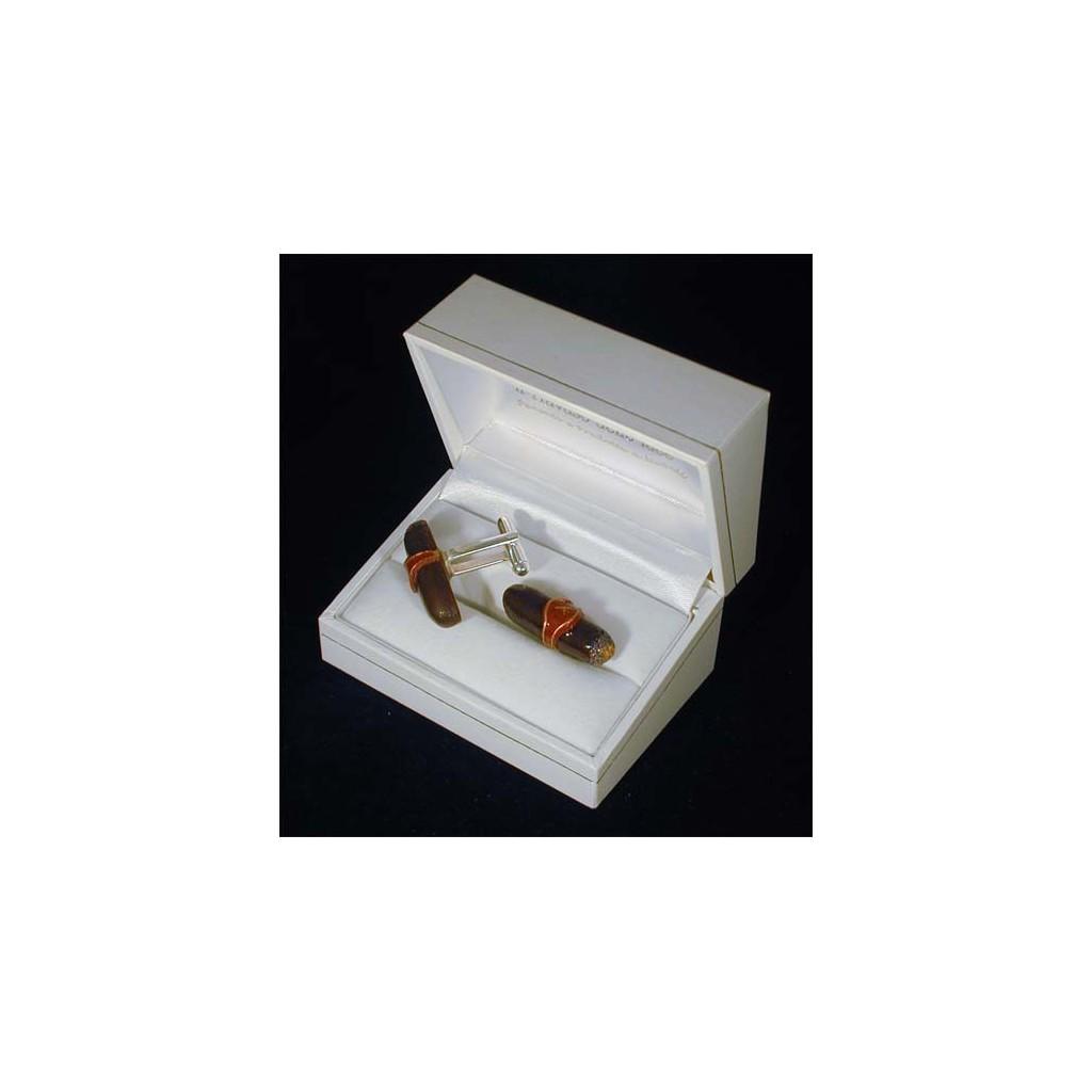 Cufflinks: havana cigar