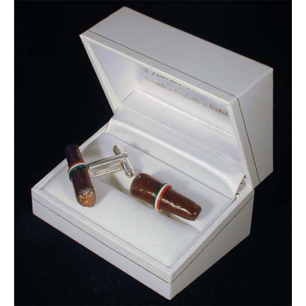 Cufflinks: cigares toscano