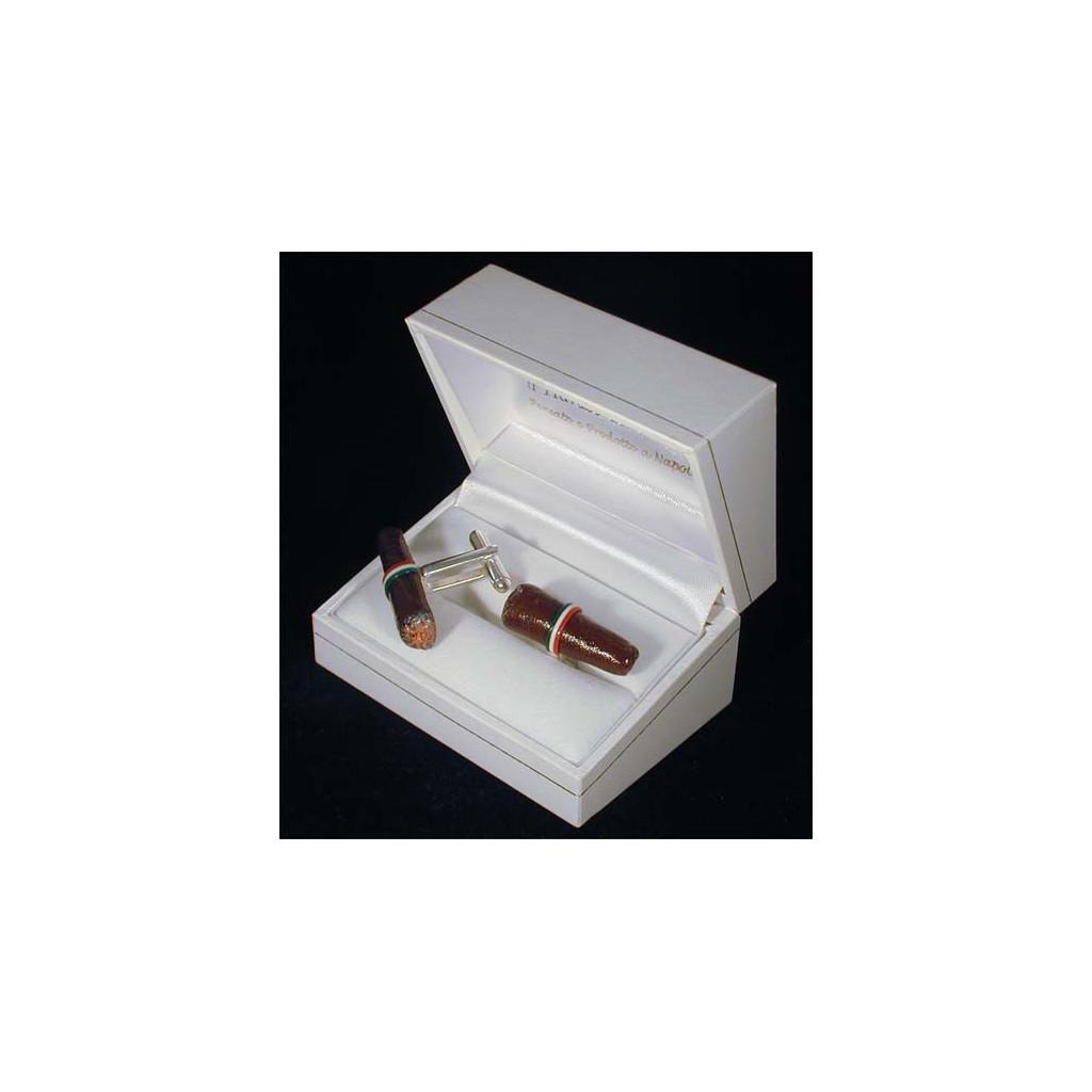 Cufflinks: cigarro toscano