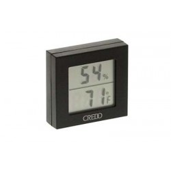 Credo digital thermo-hygrometer black