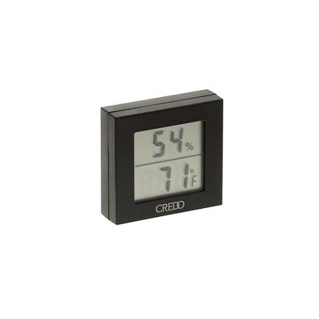 Credo digital thermo-hygrometer black