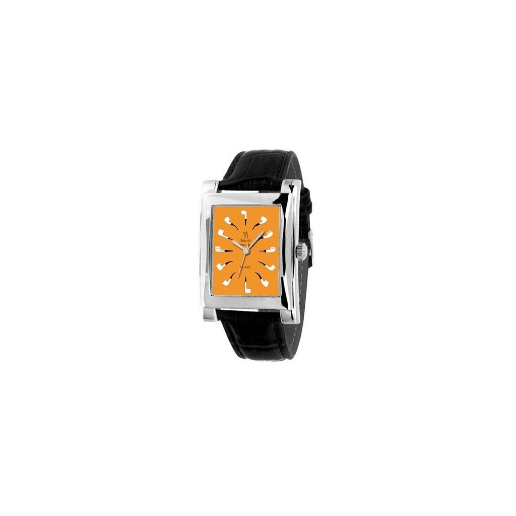 Quartz Clock orange with black strap