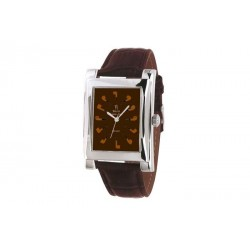 Quartz Clock brown with brown strap